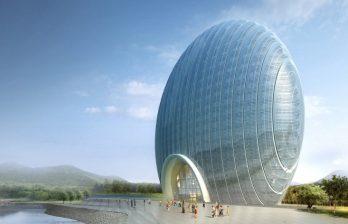<!--:ru-->В Китае открылся отель, похожий на ракушку, круглую рыбу  с открытым ртом и восходящее солнце<!--:-->