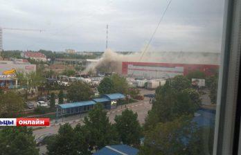 Причиной пожара в супермаркете в Бельцах оказалась непотушенная сигарета