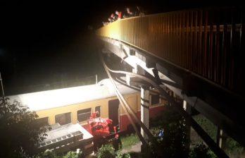 (ВИДЕО) Высоковольтный кабель упал в Бельцах на поезд