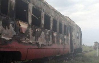 Пассажирский поезд Кишинев-Унгены загорелся на ходу