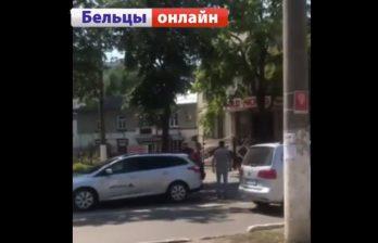 (ВИДЕО) Жестокая драка на улице Бельц - причиной стал дорожный конфликт