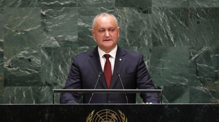 Президент Молдовы Игорь Додон воспользовался трибуной ООН, чтобы похвалить Россию