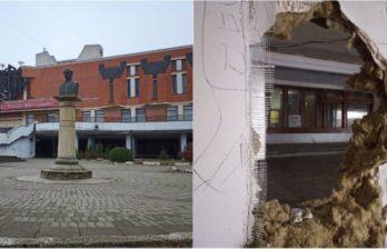 (ВИДЕО) Сквер Национального театра в Бельцах превратился в руины