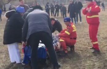 (ВИДЕО) Вертолёт SMURD доставил из Бельц в Яссы 53-летнюю женщину