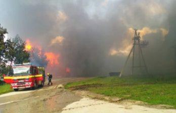 (ФОТО) На севере Молдовы потушили сильный пожар