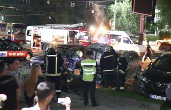 Бездомный в Бельцах оказался виновен  во вчерашнем поджоге авто у