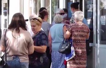 Бельцкие пенсионеры приходят затемно и простаивают несколько часов на ногах
