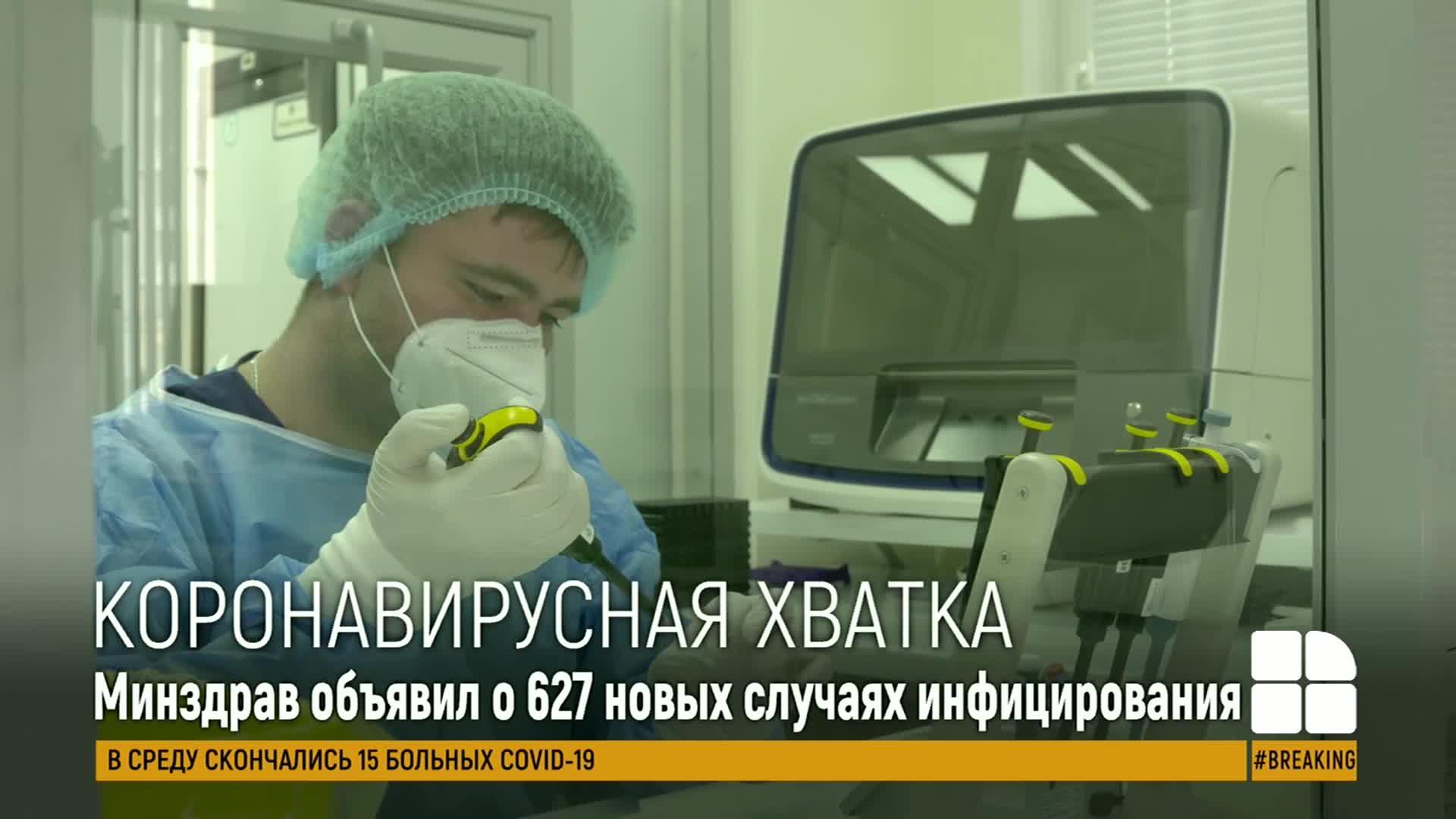 В Молдове выявили 627 новых случаев заражения коронавирусом