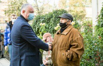 Сегодня Бельцы посетил президент Молдовы Игорь Додон