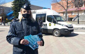 Полиция в центре Бельц призывает горожан соблюдать меры безопасности в период ЧС в Молдове