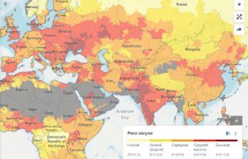 Молдова и Украина возглавили рейтинг стран с самым высоким риском засухи