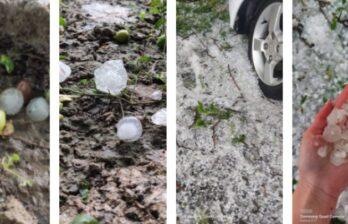 (ВИДЕО/ФОТО) Унгены сильно пострадали от вчерашнего града и дождя