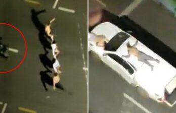 (ВИДЕО) Бразильские грабители банков использовали «живые щиты» при уходе от полиции