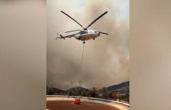 Вертолёты из Молдовы помогают тушить лесные пожары в Турции
