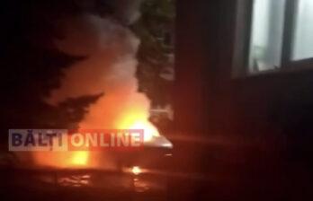 Ночью на БАМе горел автомобиль